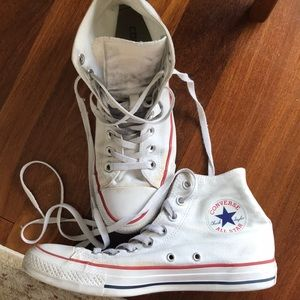 White high top Converse All Stars